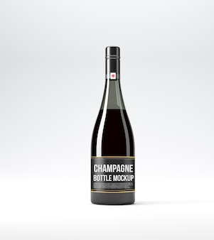 Maquete de garrafa de champanhe