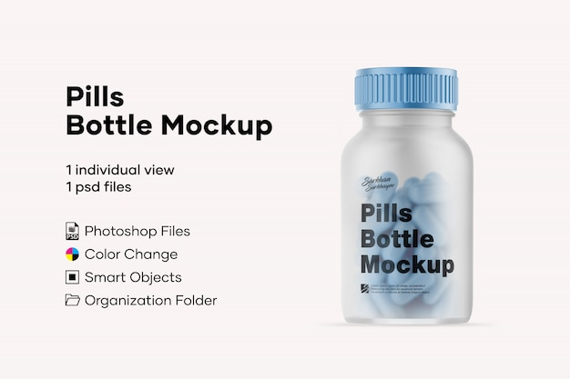 Maquete de garrafa de comprimidos