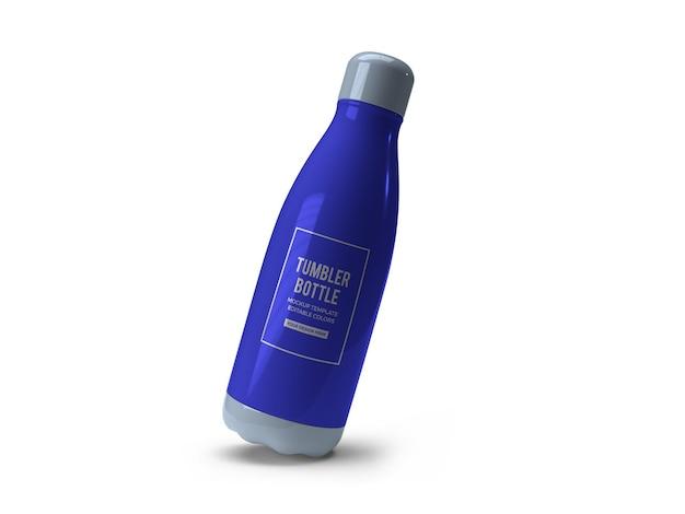 Maquete de garrafa de copo para beber