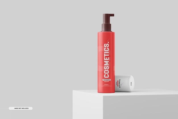 Maquete de garrafa de cosméticos