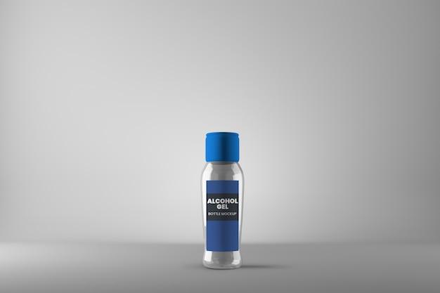 Maquete de garrafa de gel de álcool de plástico