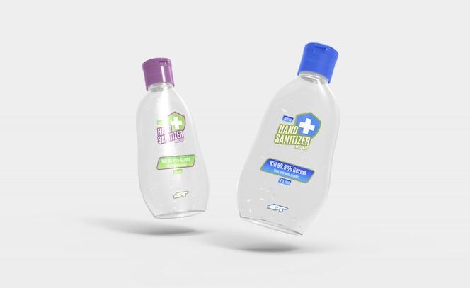 Maquete de garrafa de gel desinfetante para as mãos