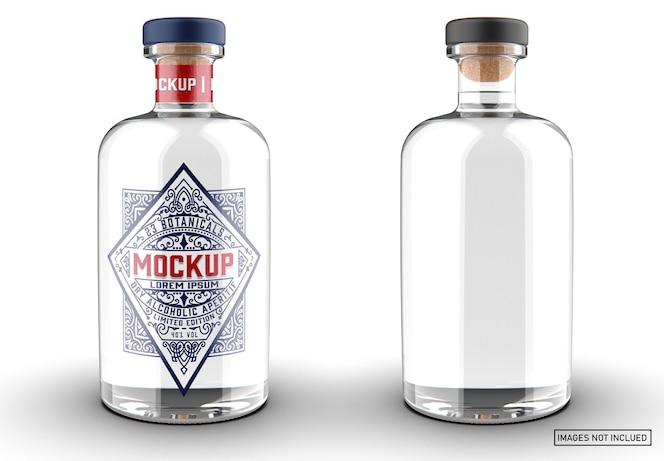 Maquete de garrafa de gim