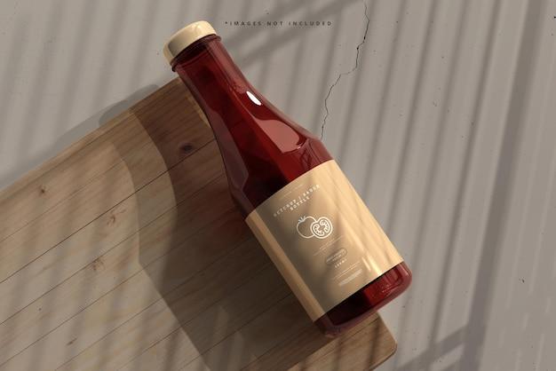 Maquete de garrafa de ketchup ou molho