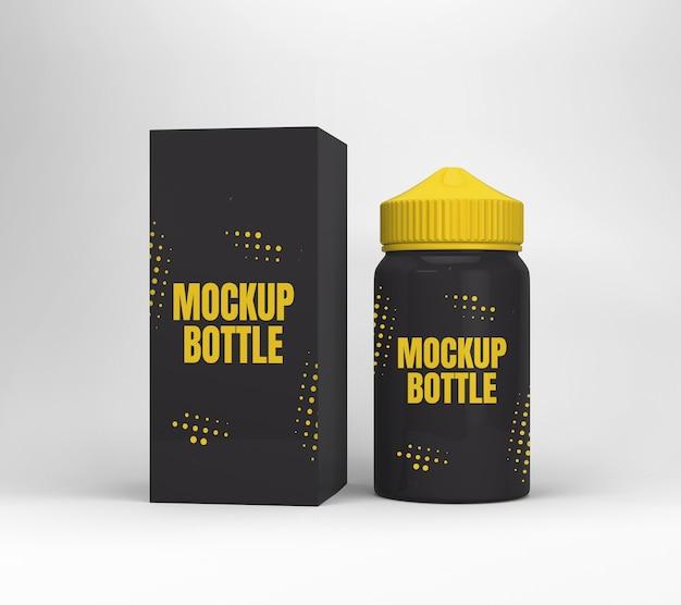 Maquete de garrafa de líquido vape isolada