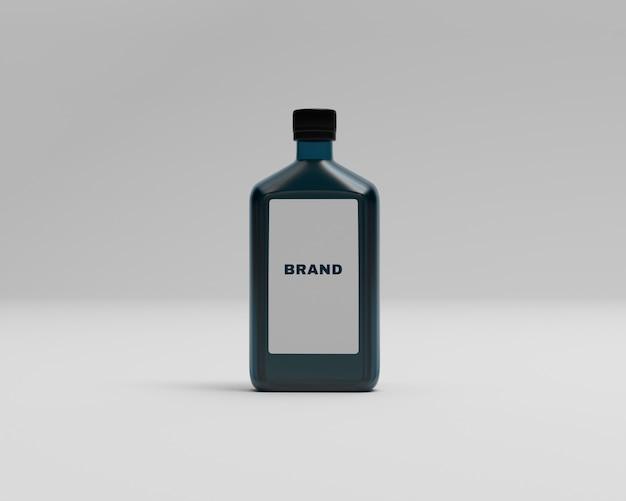 Maquete de garrafa de loção mínima
