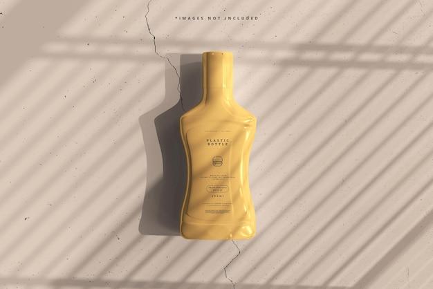 Maquete de garrafa de molho de plástico
