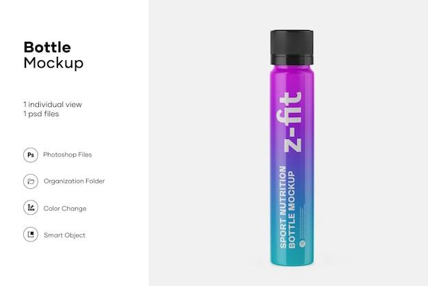 Maquete de garrafa de nutrição esportiva de plástico fosco