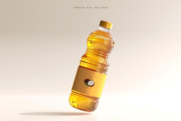 Maquete de garrafa de óleo de cozinha