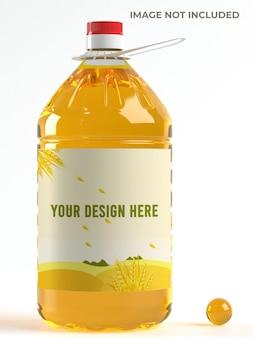 Maquete de garrafa de óleo de cozinha Psd Premium
