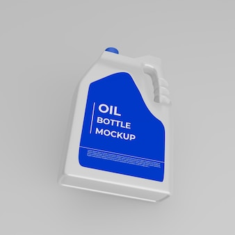 Maquete de garrafa de óleo de motor realista 3d