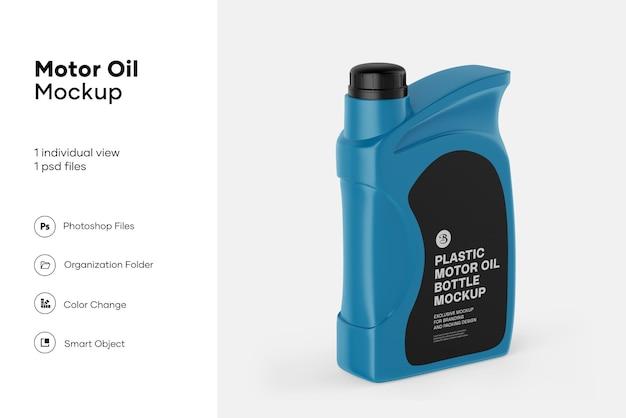 Maquete de garrafa de óleo de motor