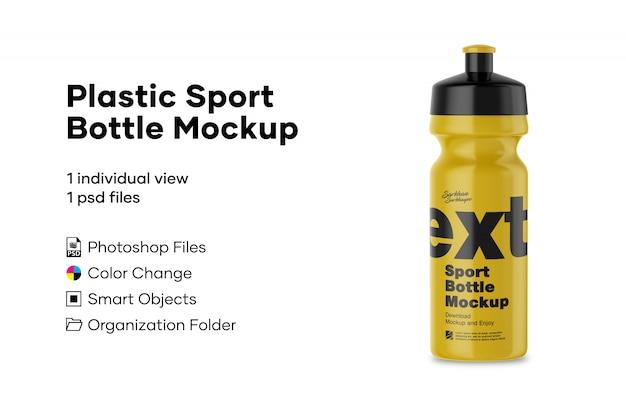 Maquete de garrafa de plástico esporte