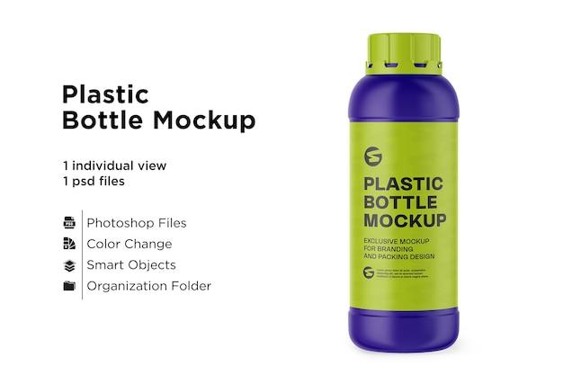 Maquete de garrafa de plástico fosco