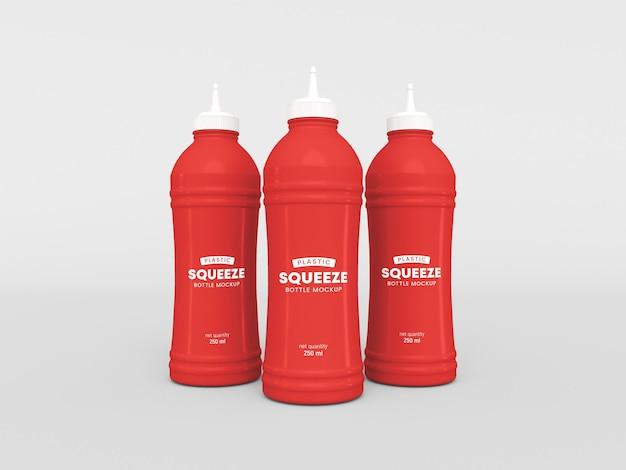 Maquete de garrafa de plástico squeeze