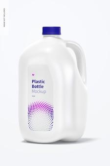Maquete de garrafa de plástico, vista frontal