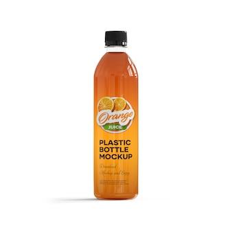 Maquete de garrafa de plástico