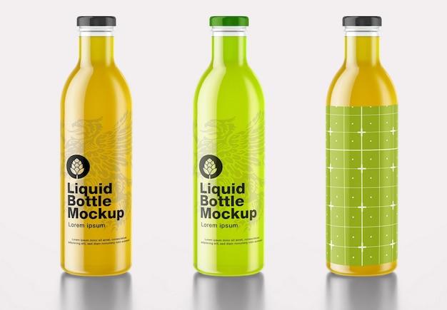 Maquete de garrafa de refrigerante