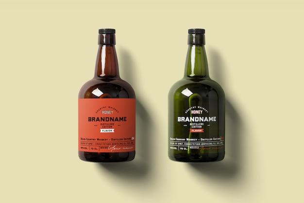 Maquete de garrafa de rum
