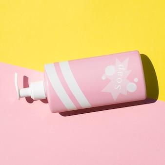 Maquete de garrafa de sabão líquido