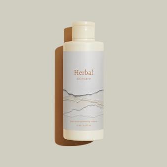 Maquete de garrafa de skincare embalagem de produtos de beleza psd