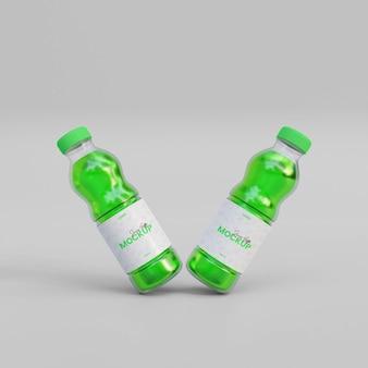 Maquete de garrafa de suco 3d
