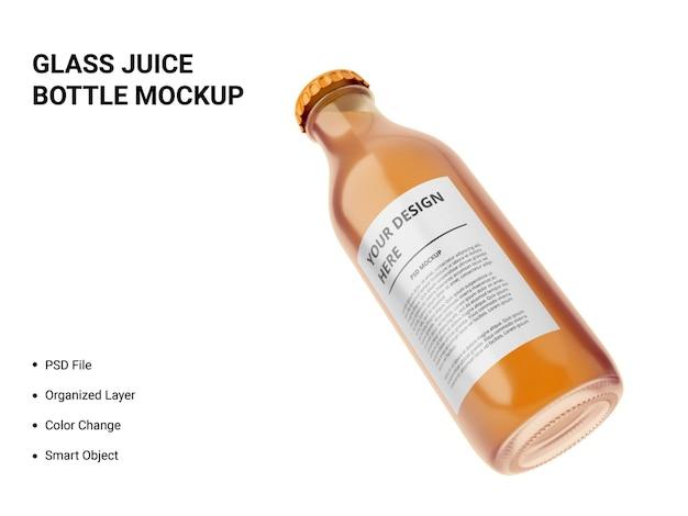 Maquete de garrafa de suco de vidro