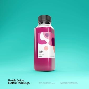 Maquete de garrafa de suco fresco
