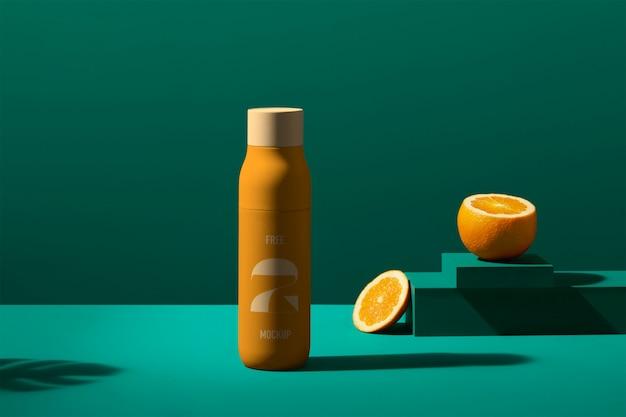 Maquete de garrafa de suco psd