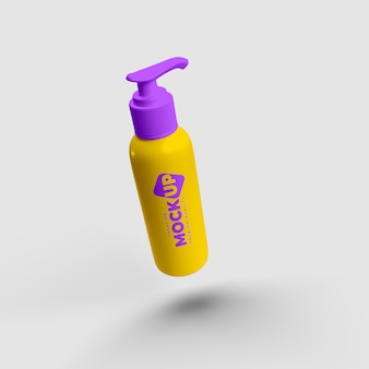 Maquete de garrafa de tampa de bomba realista