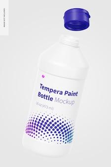 Maquete de garrafa de tinta para têmpera de 16 onças, flutuante