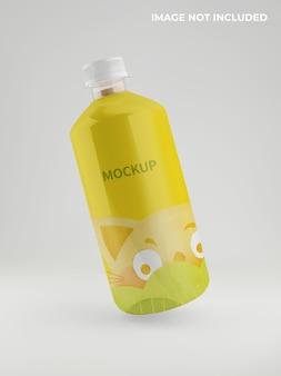 Maquete de garrafa de tubo de plástico