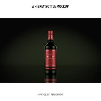 Maquete de garrafa de uísque
