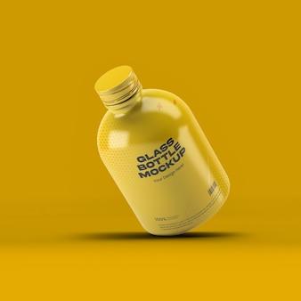 Maquete de garrafa de vidro 04