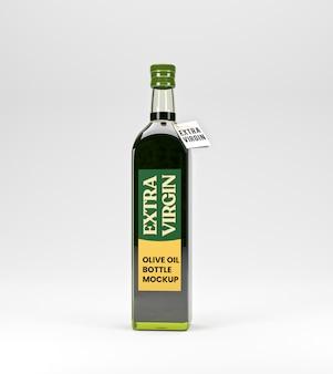 Maquete de garrafa de vidro de azeite