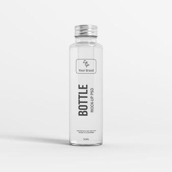 Maquete de garrafa de vidro