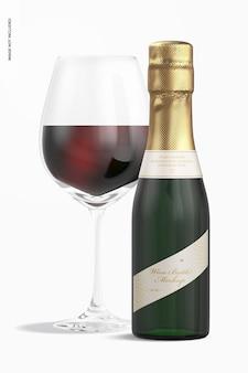 Maquete de garrafa de vinho de 187 ml