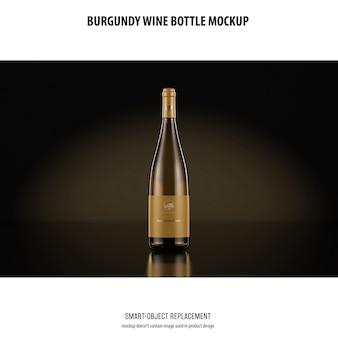 Maquete de garrafa de vinho de borgonha