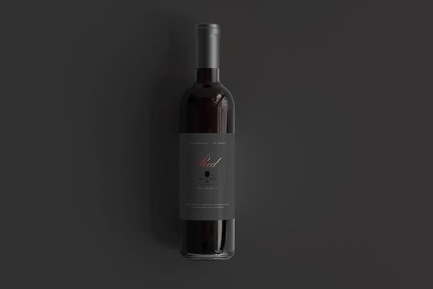 Maquete de garrafa de vinho tinto