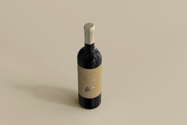Maquete de garrafa de vinho