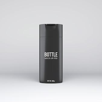 Maquete de garrafa de xampu