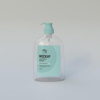 Maquete de garrafa desinfetante para as mãos psd premium