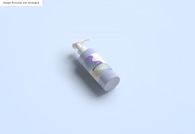 Maquete de garrafa desinfetante para as mãos