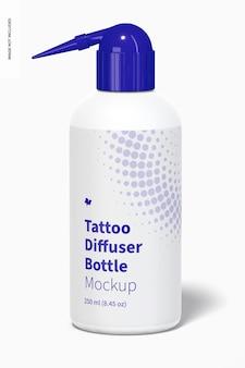 Maquete de garrafa difusora de tatuagem