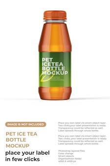 Maquete de garrafa pequena de chá gelado