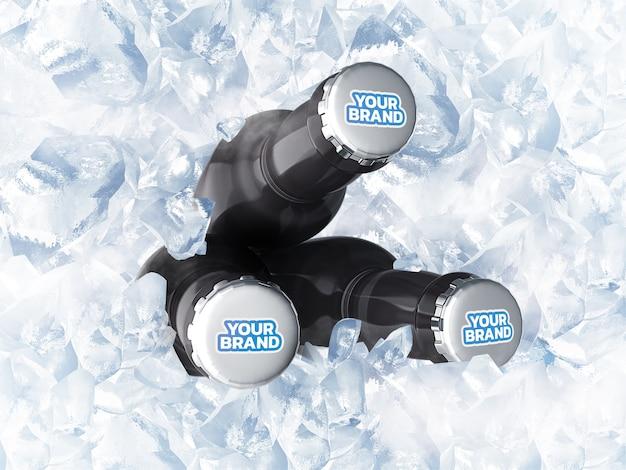 Maquete de garrafa renderização em 3d realista