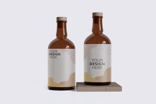 Maquete de garrafa
