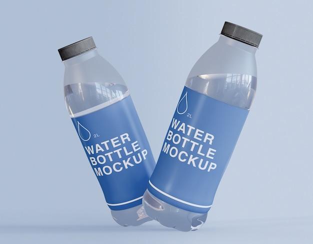 Maquete de garrafas de água