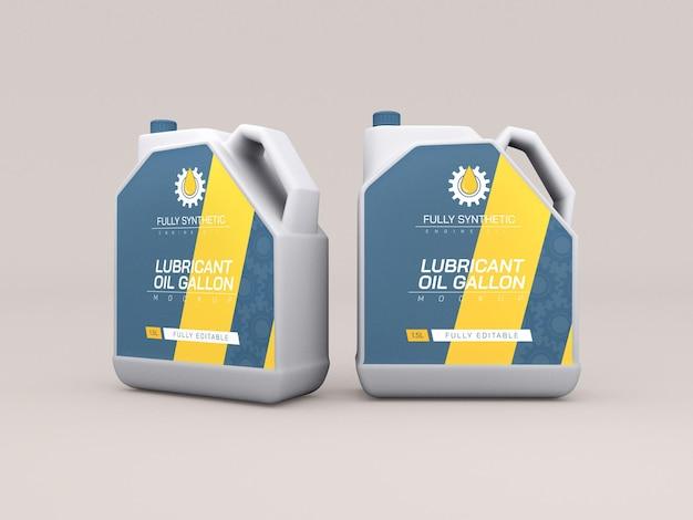 Maquete de garrafas de plástico de óleo de motor