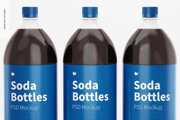 Maquete de garrafas de refrigerante de 1,5 l